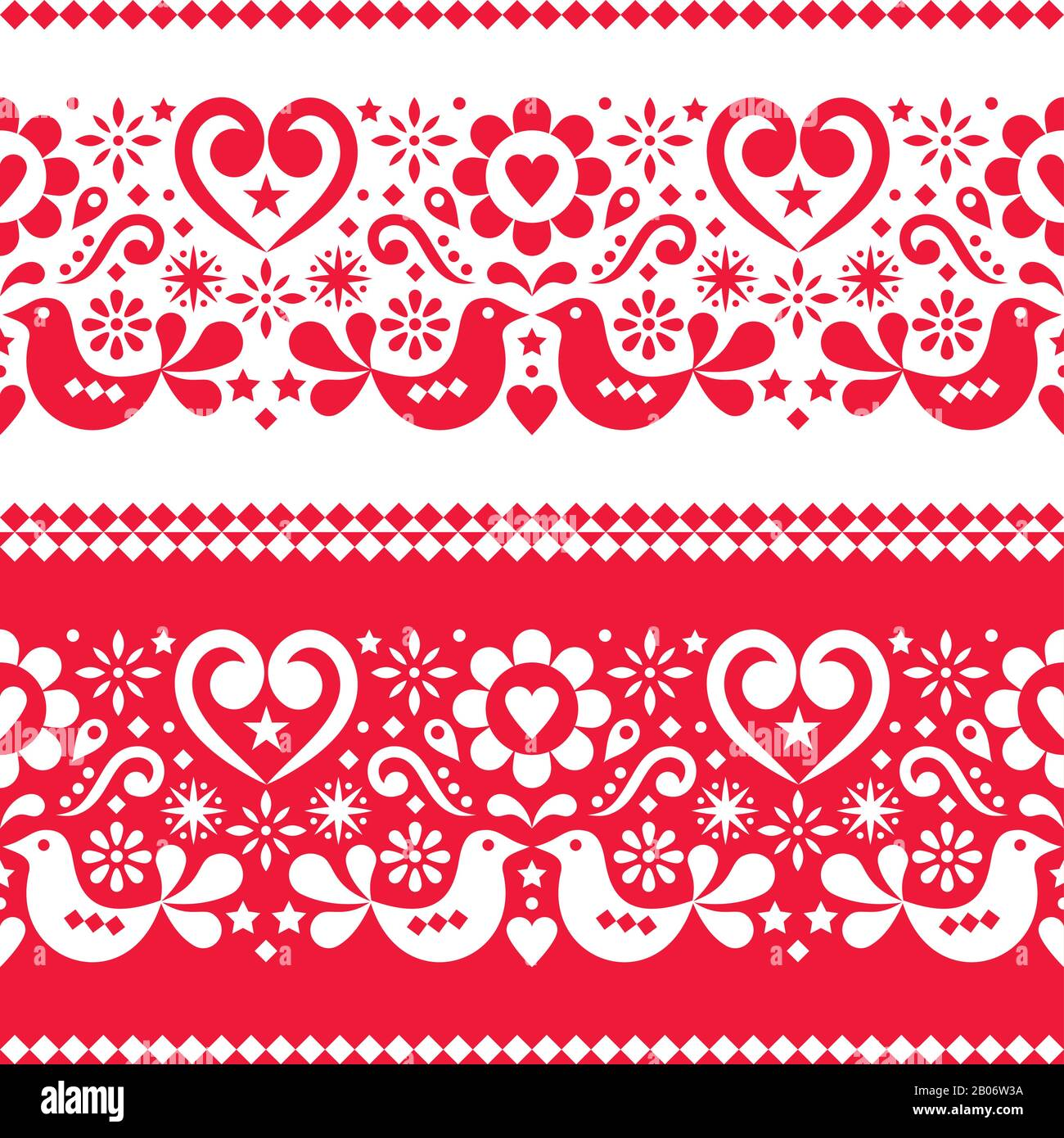 C Scandi Folk Art Posavasos Tarjetas Flores Corazón Pájaro Gráfico de punto de cruz