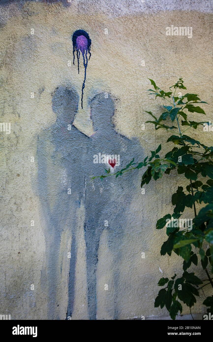 Arte callejero en Mitte, Alemania, Europa Foto de stock