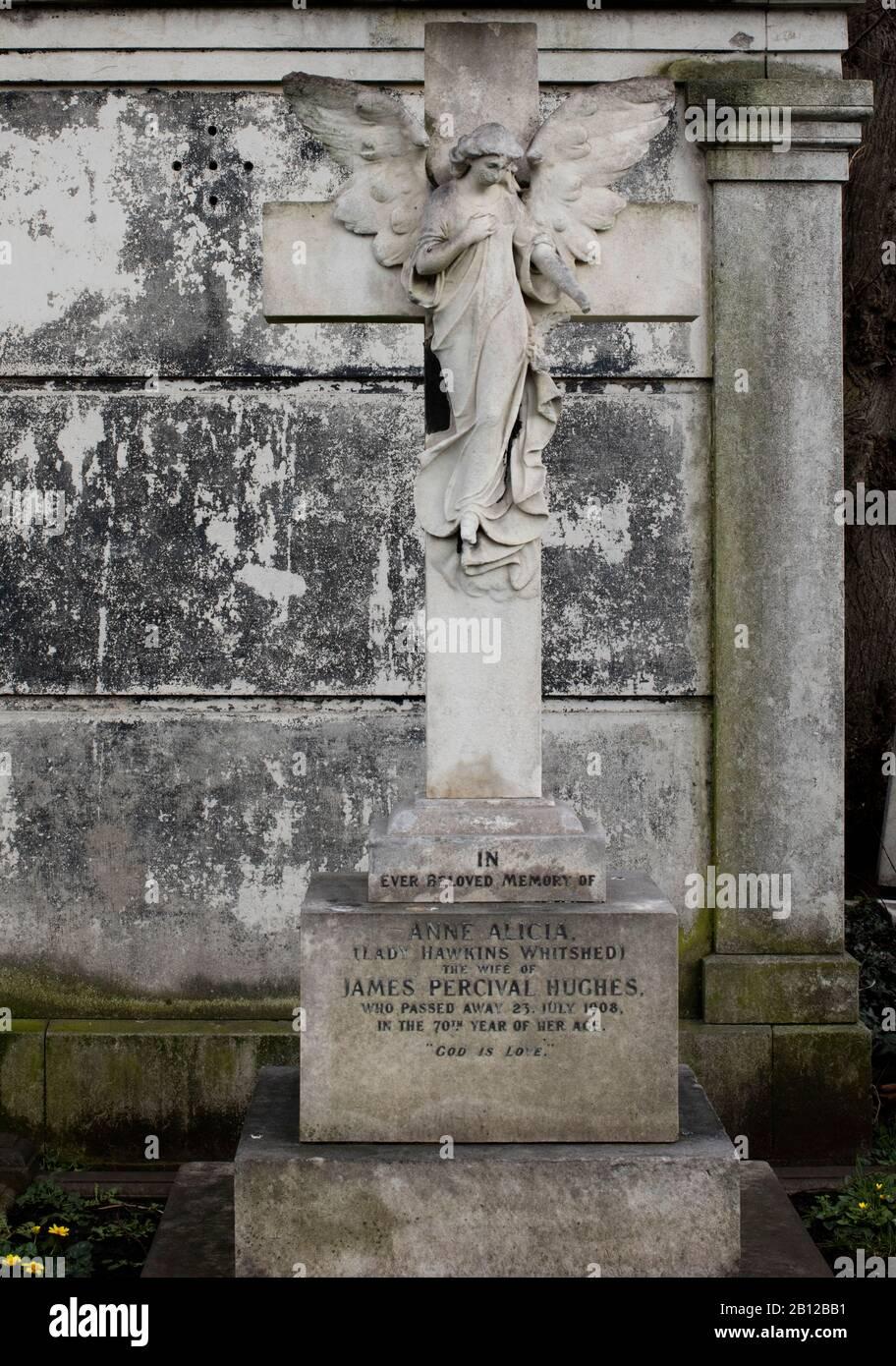 Cementerio de Brompton, Old Brompton Road, Kensington, Londres, SW10; uno de los cementerios de Londres 'Magnificent Seven', es la propiedad de la Corona de 16 hectáreas. Foto de stock
