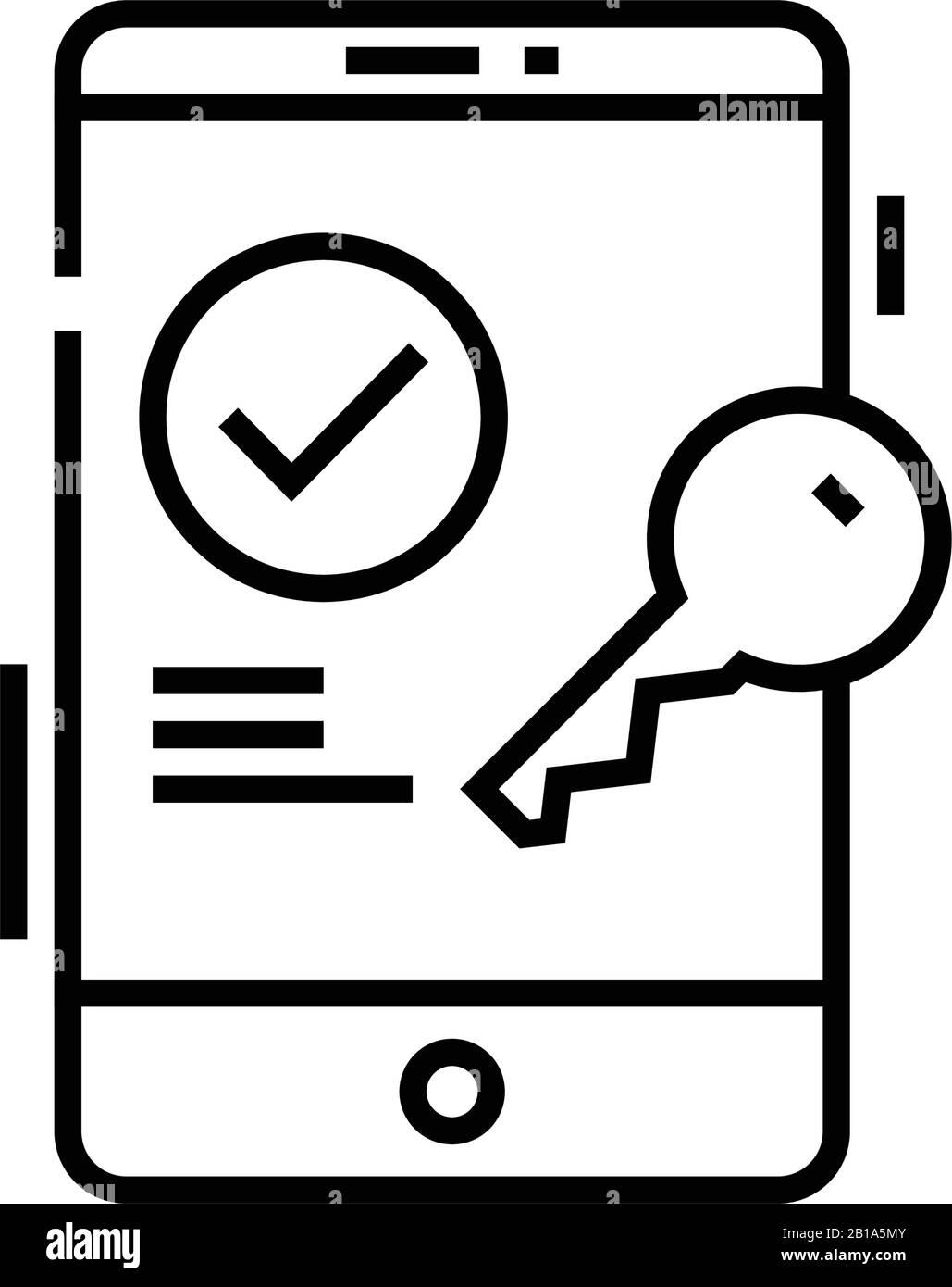 Corregir icono de línea de contraseña, signo conceptual, ilustración de vector de contorno, símbolo lineal. Ilustración del Vector
