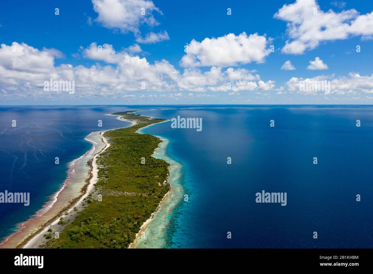 Impresiones Del Atolón Kauehi, Tuamotu Archipel, Polinesia Francesa Foto de stock