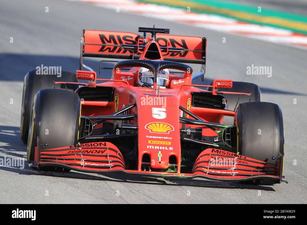 26 De Febrero De 2020; Circuit De Barcelona Catalunya, Barcelona, Cataluña, España; Formula 1 Pre-Season Testing Two; Scuderia Ferrari, Sebastian Vettel Foto de stock