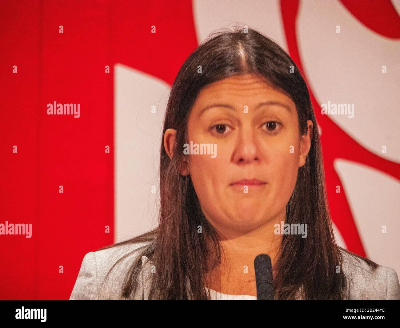 Lisa Nandy, MP de Wigan, contendiente por líder del Partido Laborista Foto de stock
