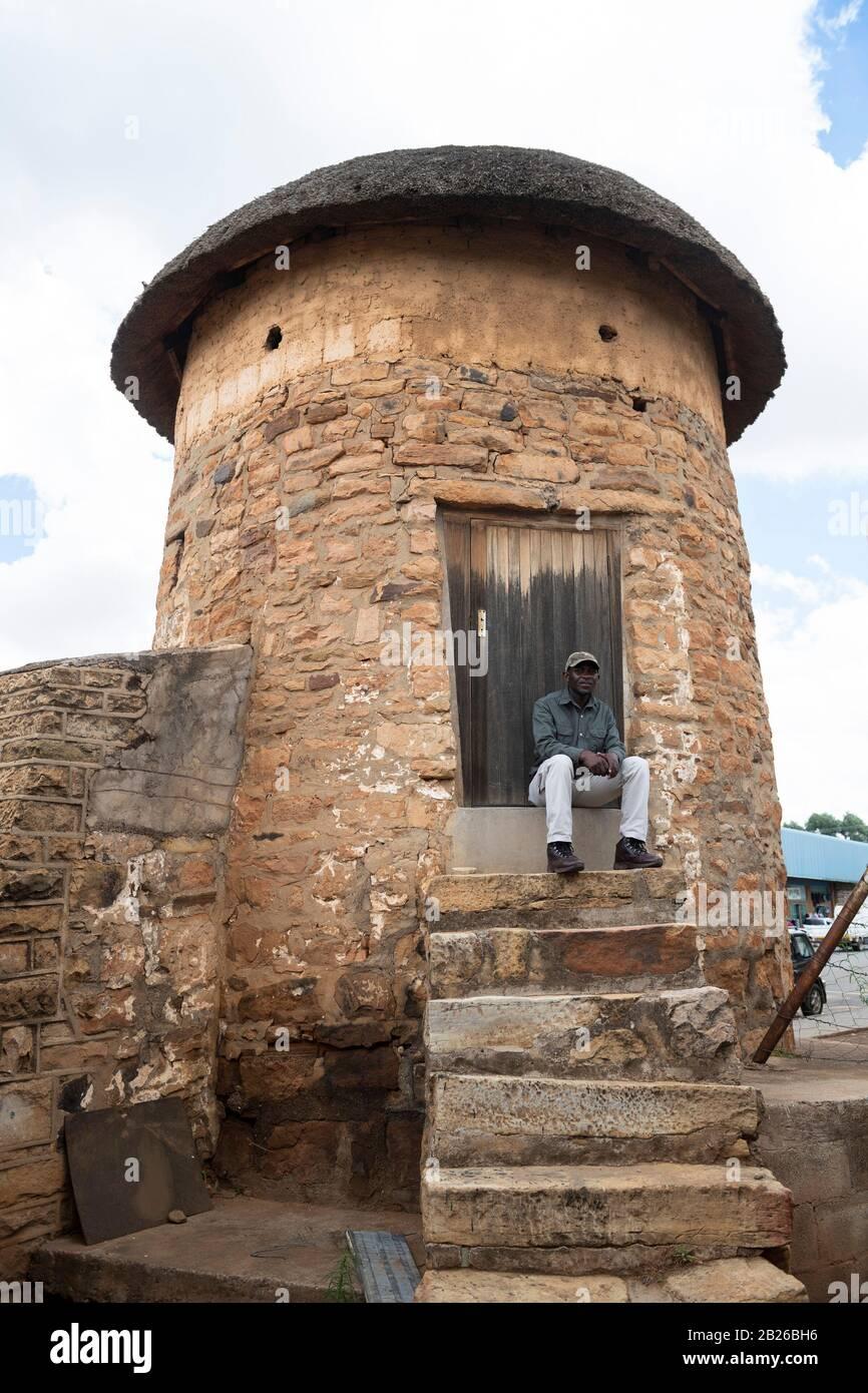 Torre De La Campana Mayor, Leribe, Lesotho Foto de stock