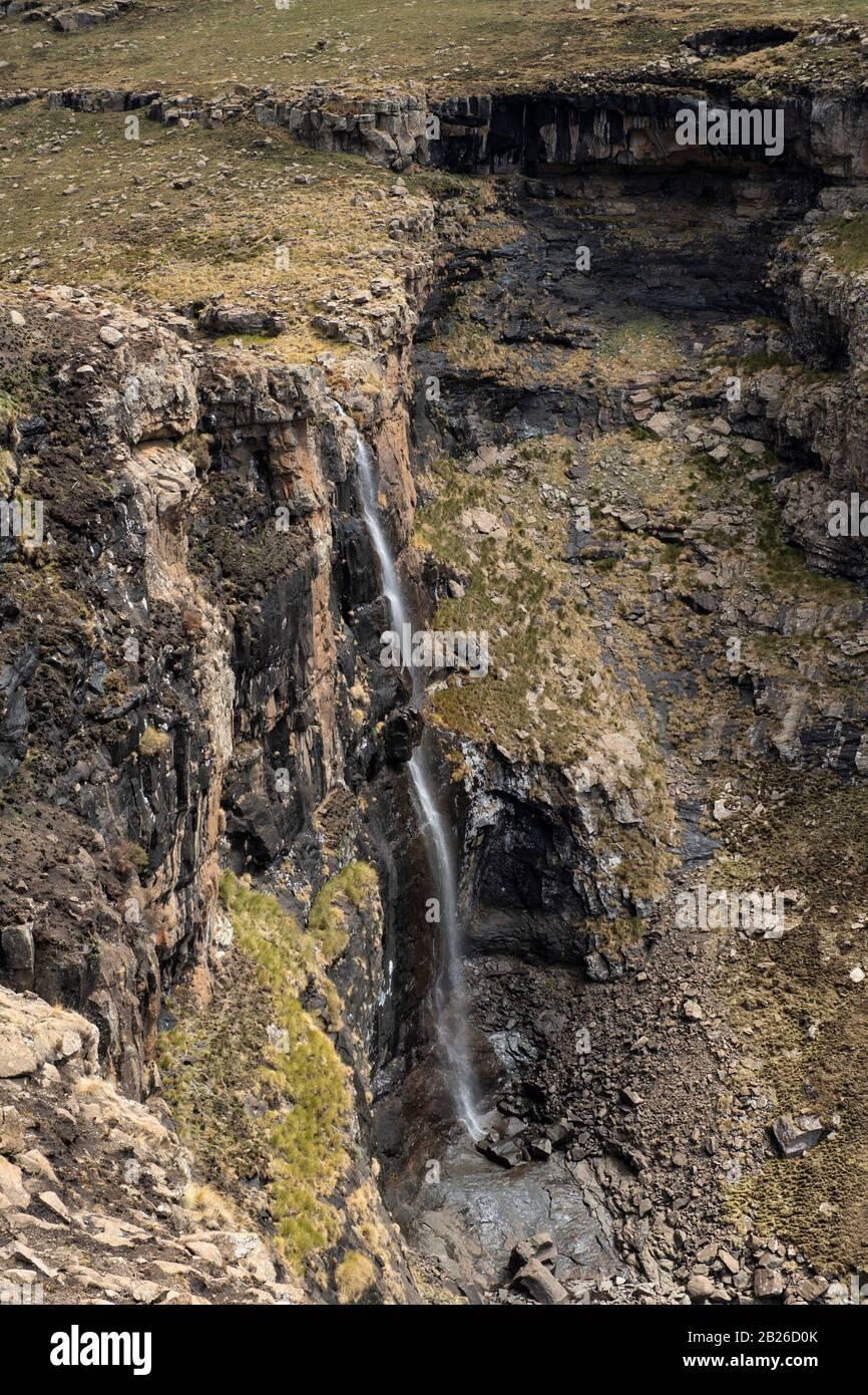Cascada De Lepaqoa, Reserva Natural De Bokong, Lesotho Foto de stock