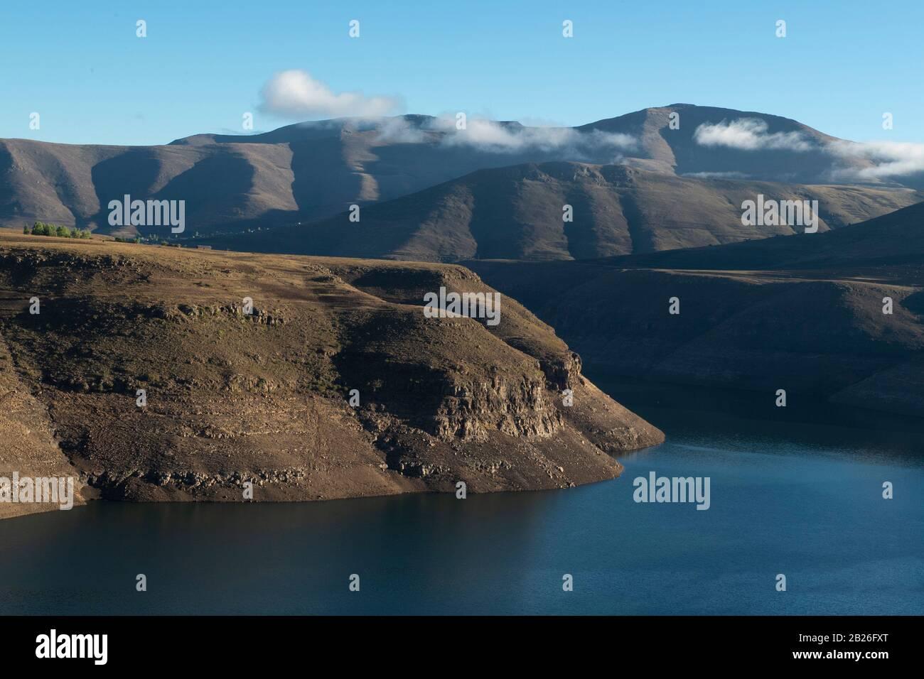 Presa De Katse, Lesotho Foto de stock