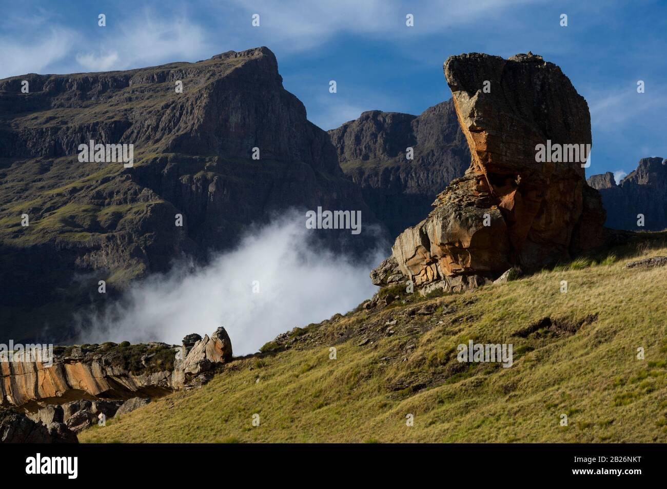 Formaciones Rocosas, Parque Nacional Sehlabathebe, Lesotho Foto de stock
