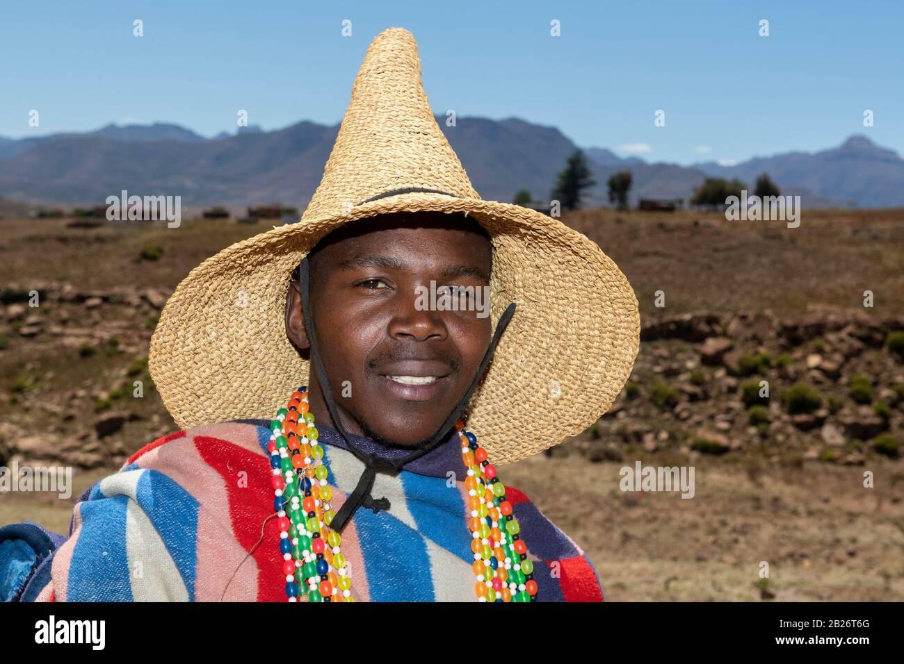 Basotho, Malealea, Lesotho Foto de stock