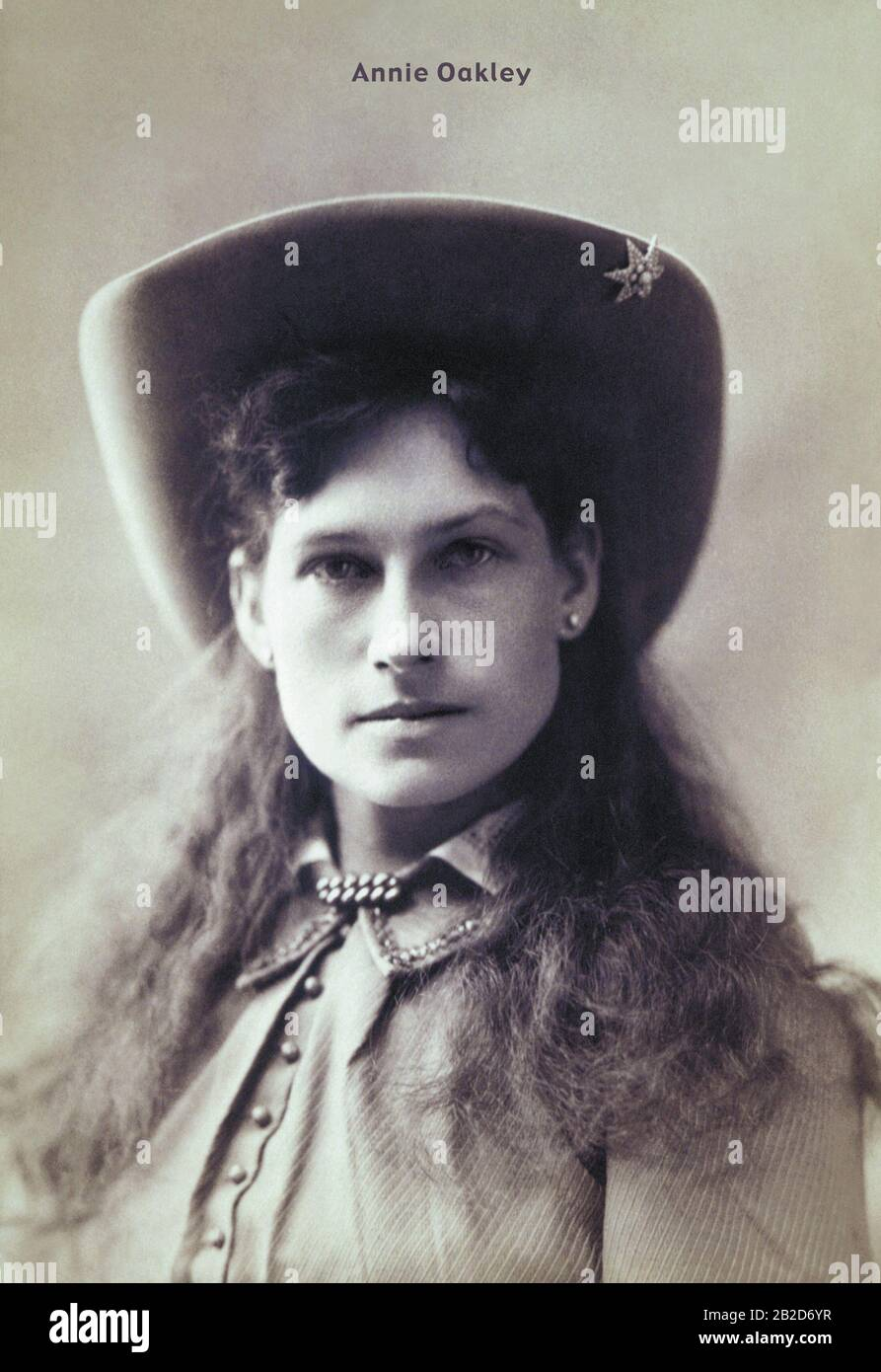 Annie Oakley Foto de stock