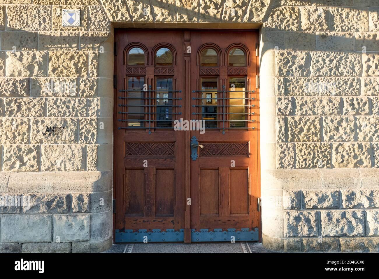 Estación principal, fachada de la casa, vista de la ciudad, histórico, Eisenach, Turingia, Alemania, Europa, Foto de stock