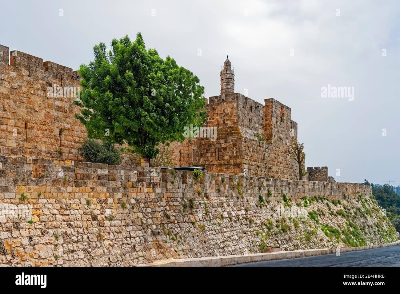 Israel, Ciudad Vieja, Ciudadela De David, Jerusalén Foto de stock