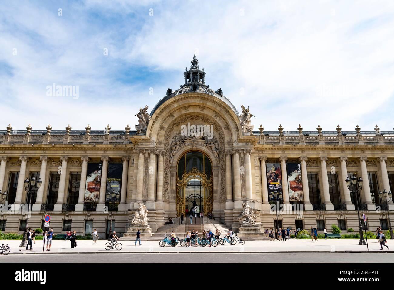 Portal principal del Petit Palaise, Musée des Beaux-Arts de la Ville de Paris, Museo Municipal de Bellas Artes, París, Francia, Europa Foto de stock