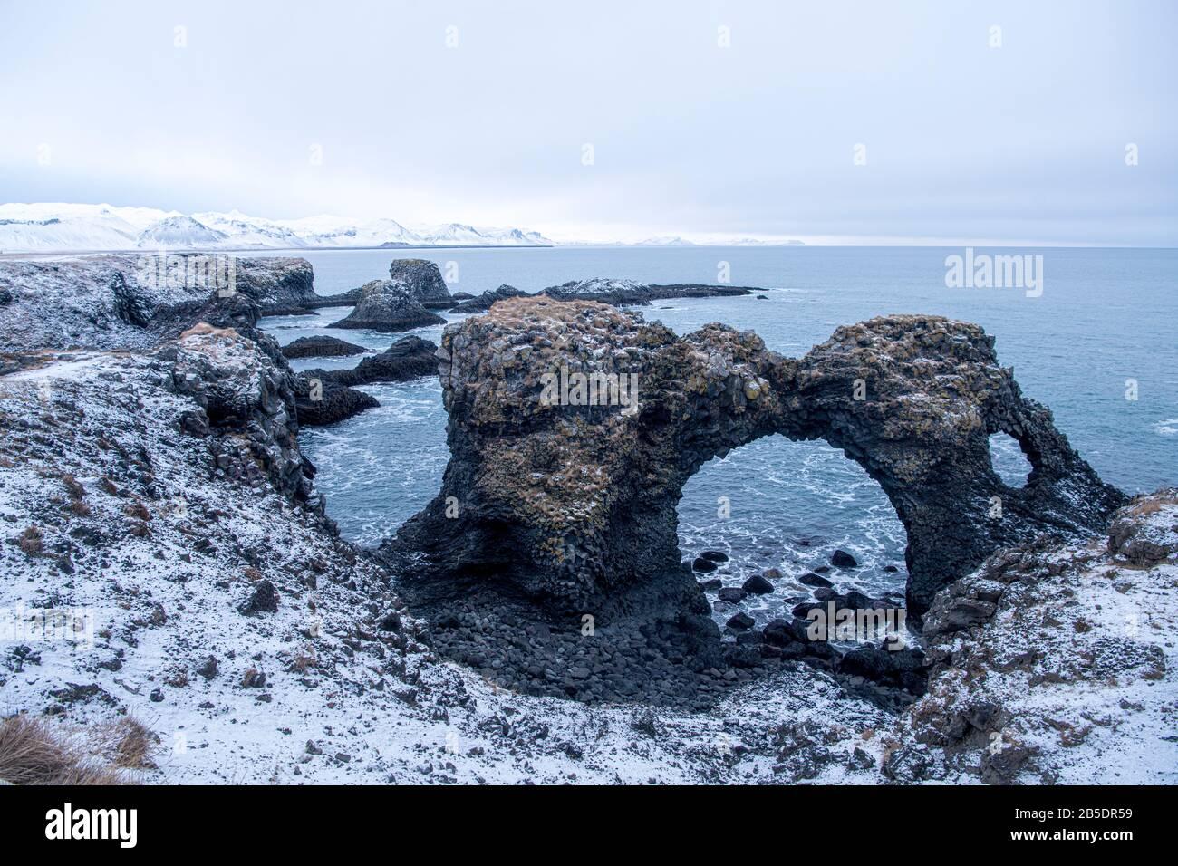 Islandia lugares impresionantes, Islandia destino de viaje hermosa islandia, Reykjavik capital de islandia Foto de stock