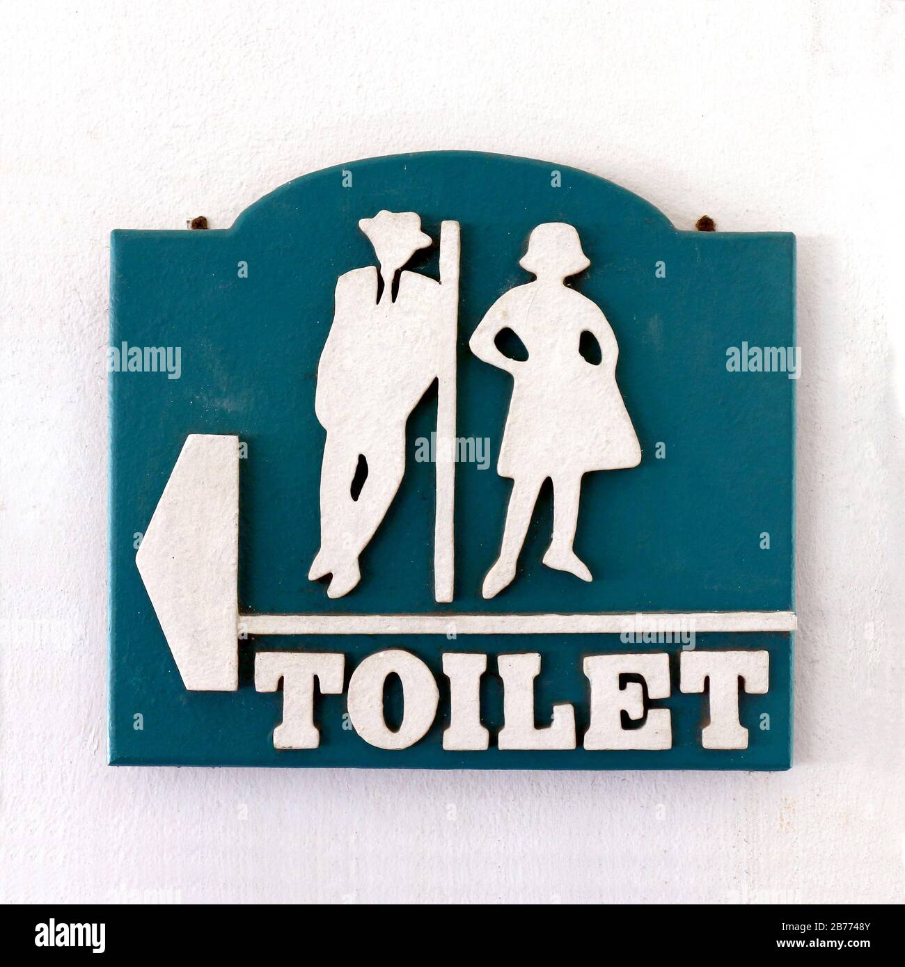 Toilette Signo de Puerta WC ferroviario estilo vintage cuarto de baño placa Retro