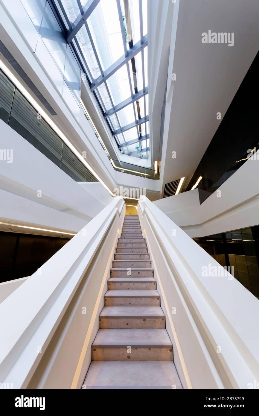 Jockey Club Innovation Tower, Universidad Politécnica de Hong Kong, Hong Kong Foto de stock