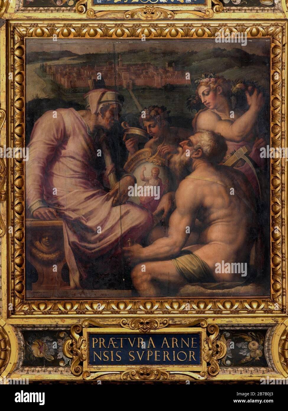 Giorgio Vasari - Alegoría de San Giovanni Valdarno Foto de stock
