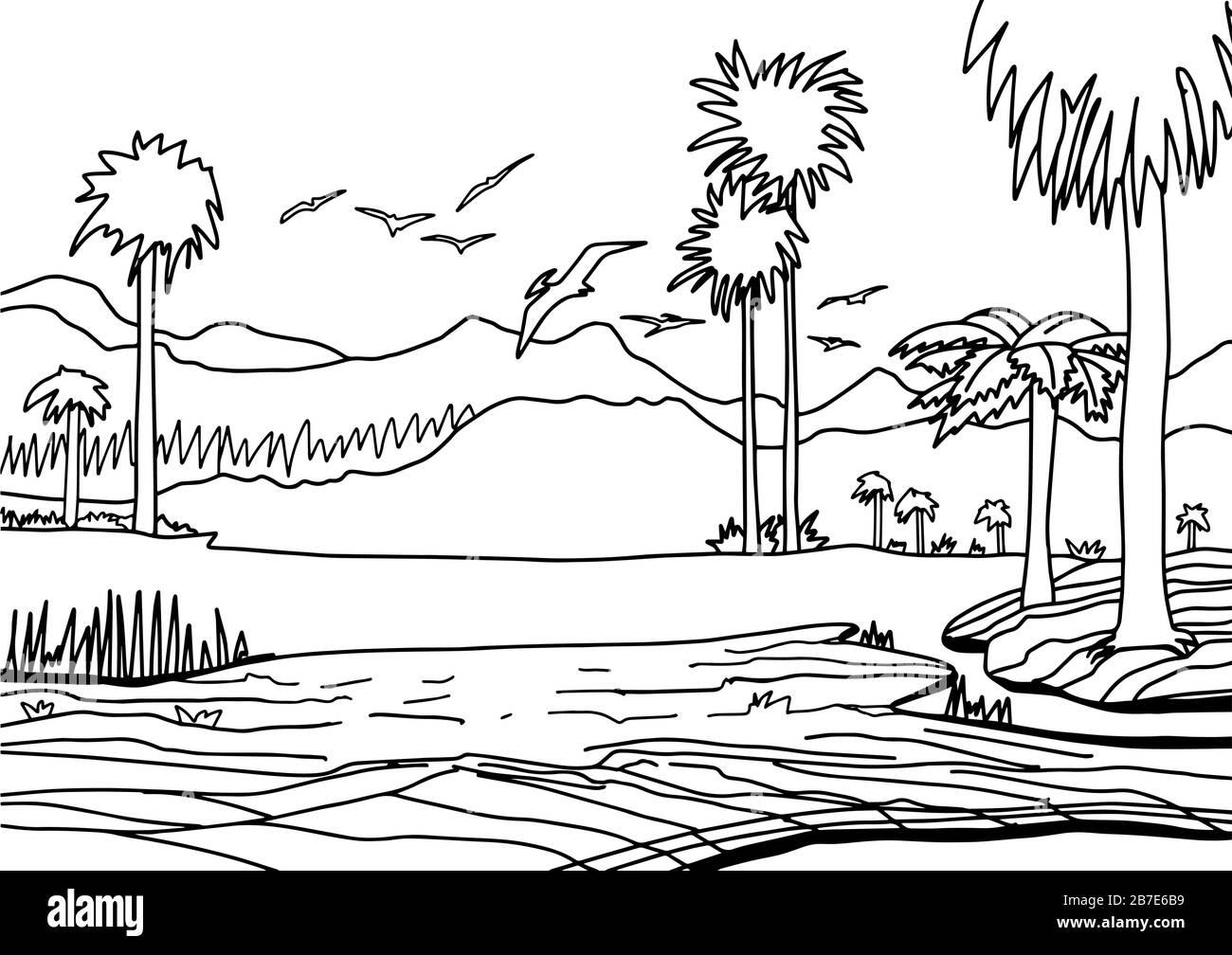 Dibujo Prehistoria Para Colorear Imagenes De Stock Dibujo