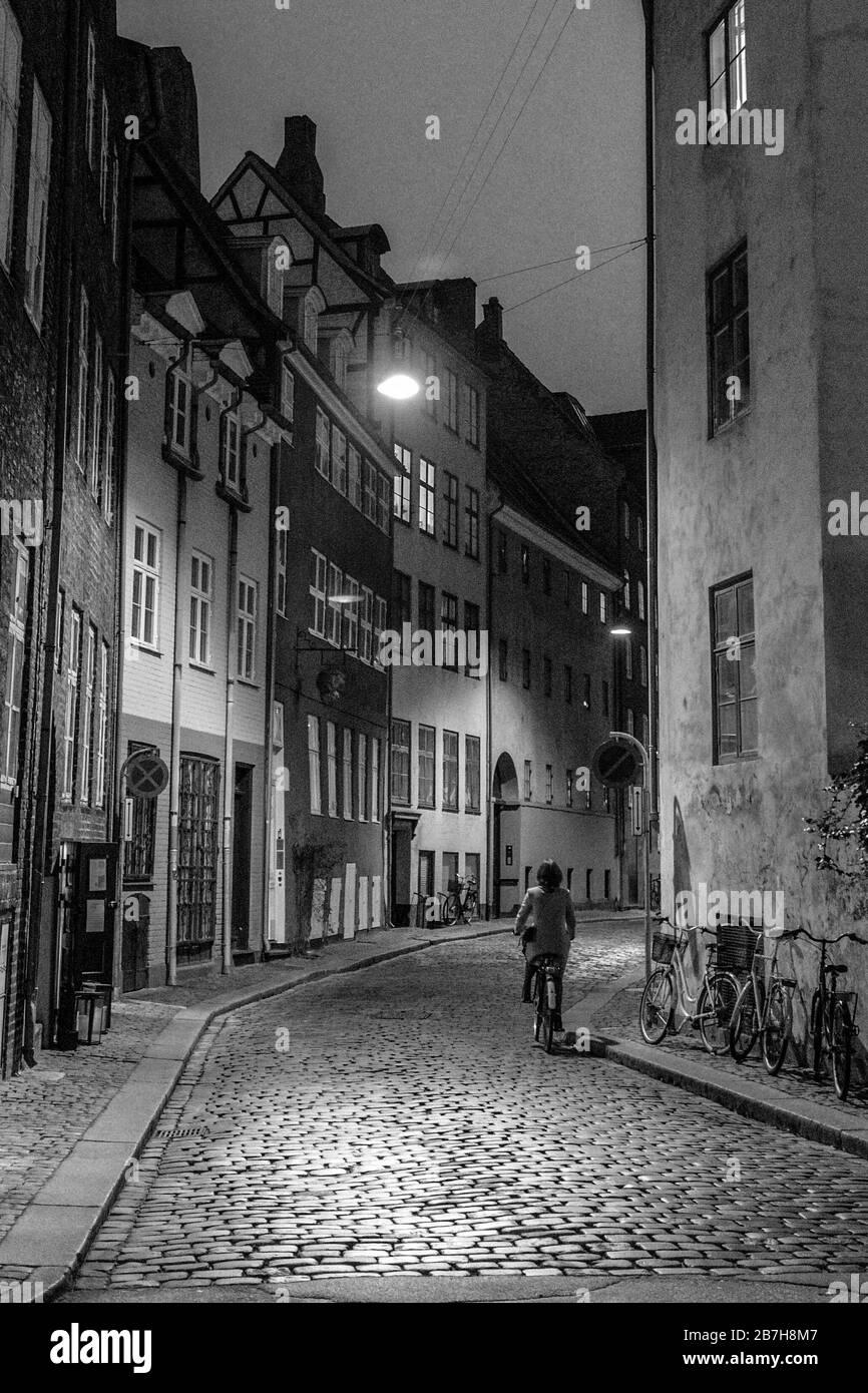 Ciudad vieja de Copenhague Foto de stock