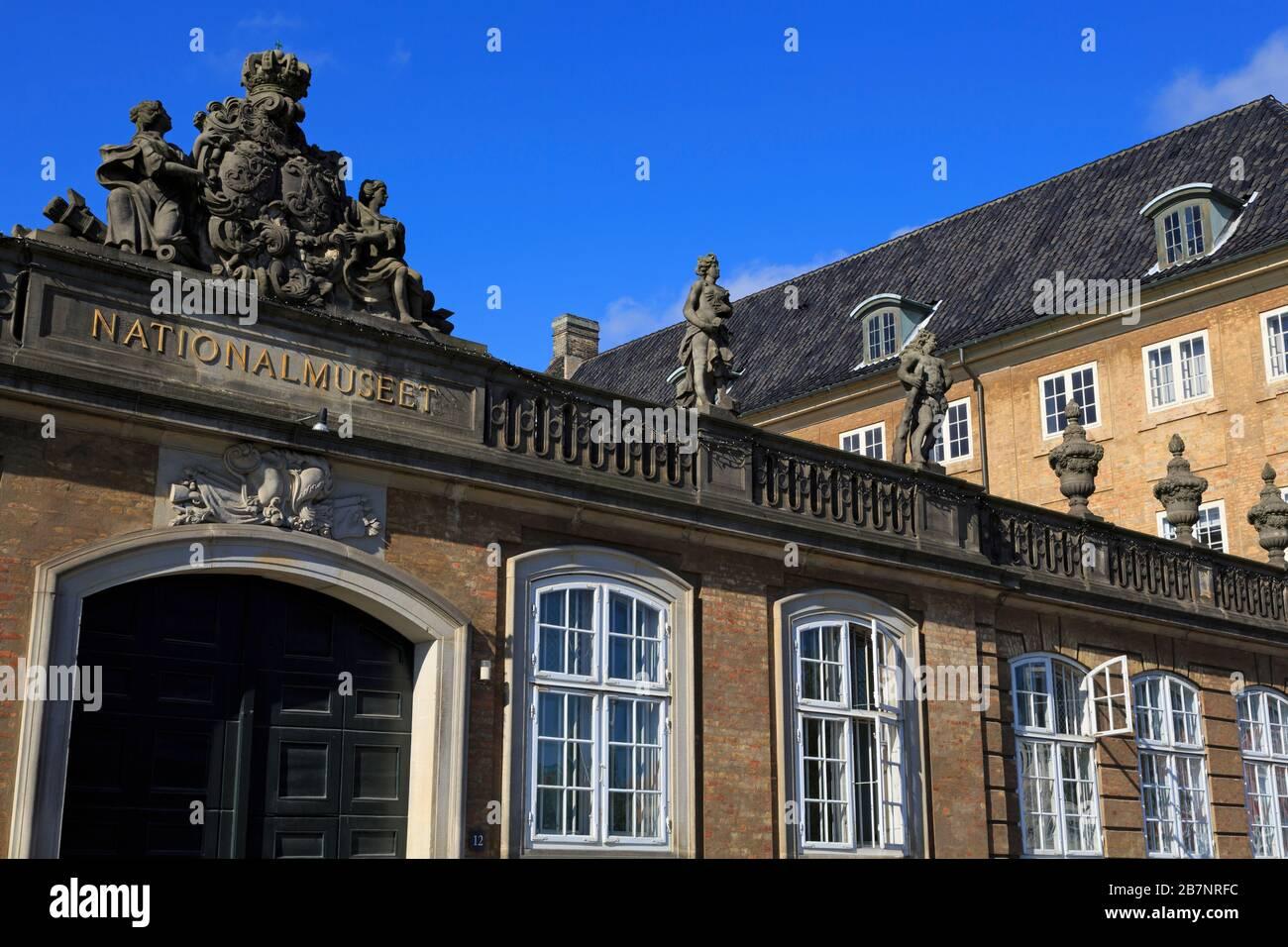Museo Nacional de Dinamarca, Copenhague, Zelanda, Dinamarca, Europa Foto de stock
