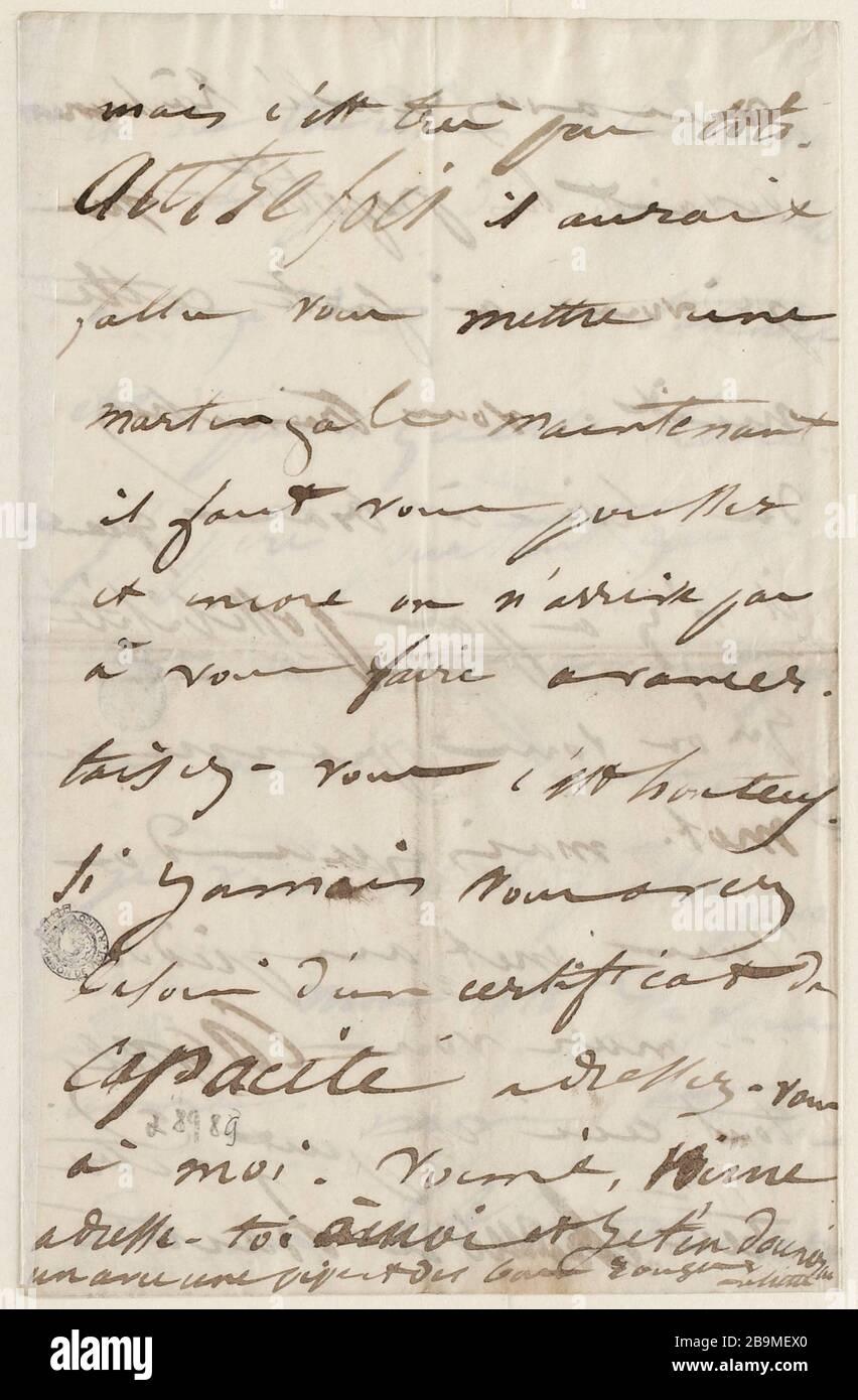 7 de julio Miércoles mediodía? [1847] Foto de stock