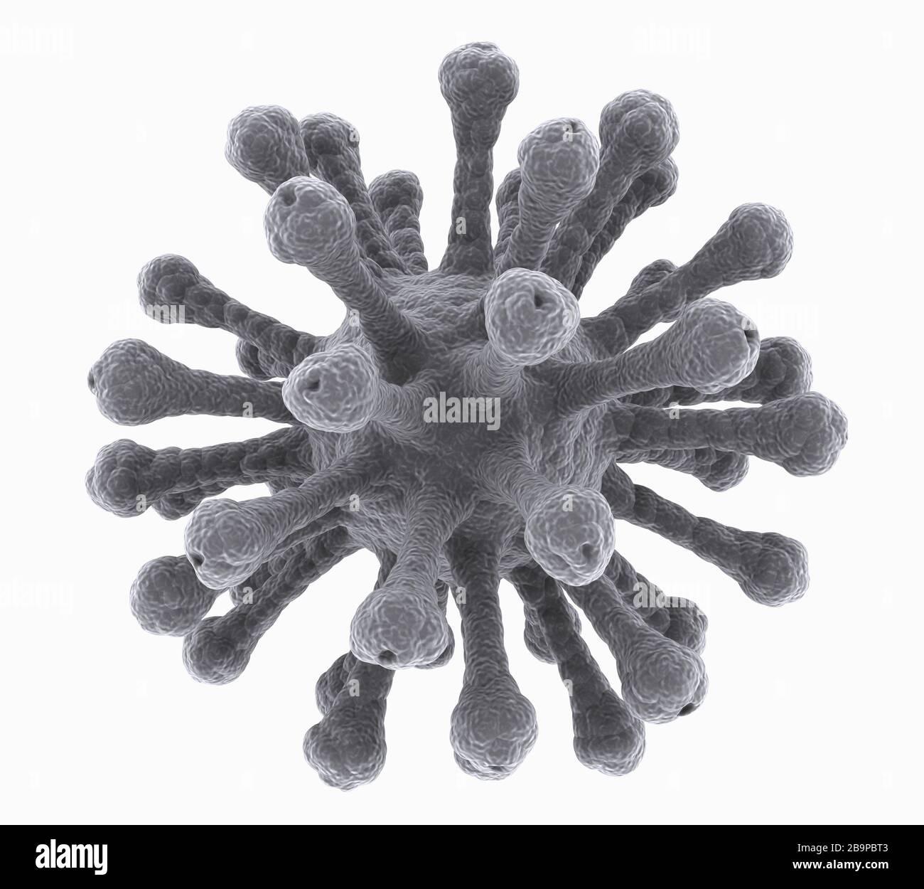 imagen microscópica aislada del virus Foto de stock