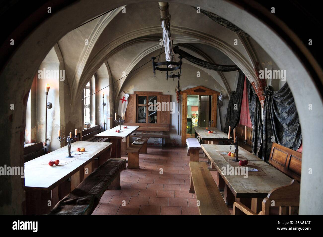 Restaurante Zechei Sankt Nikolai, Tangermuende, Tangemünde, Altmark, Sajonia-Anhalt, Alemania, Europa Foto de stock
