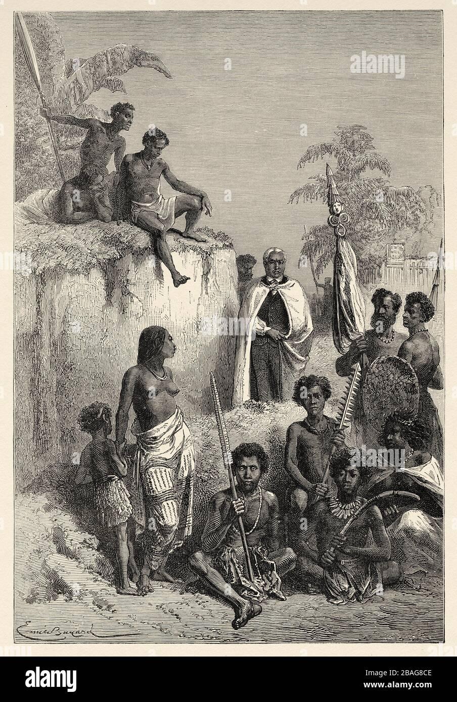 Kamehameha I el Grande (1758 - 1819) Monarca hawaiano que unificó las Islas Hawaianas y estableció formalmente el Reino de Hawai en 1810. Hawai, Foto de stock