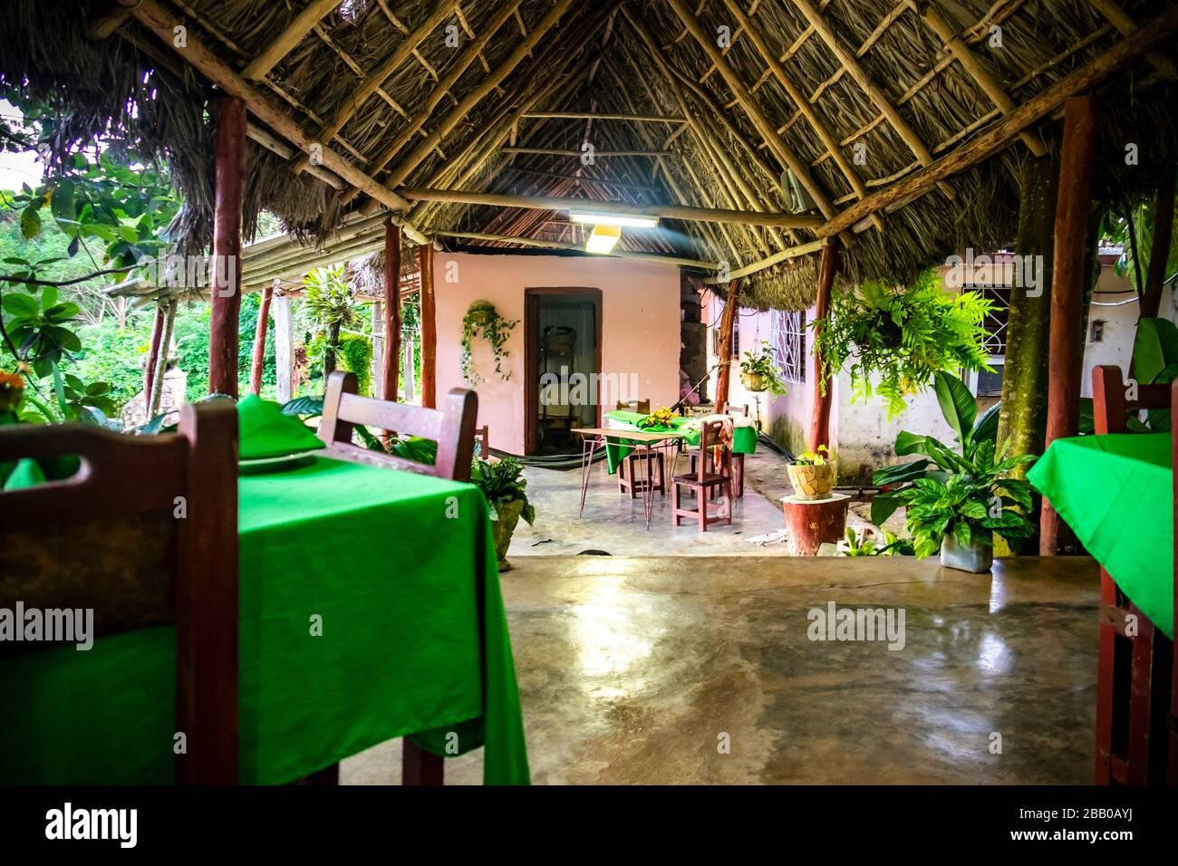 Restaurante en la República de Cuba, Caribe, Centroamérica. Foto de stock