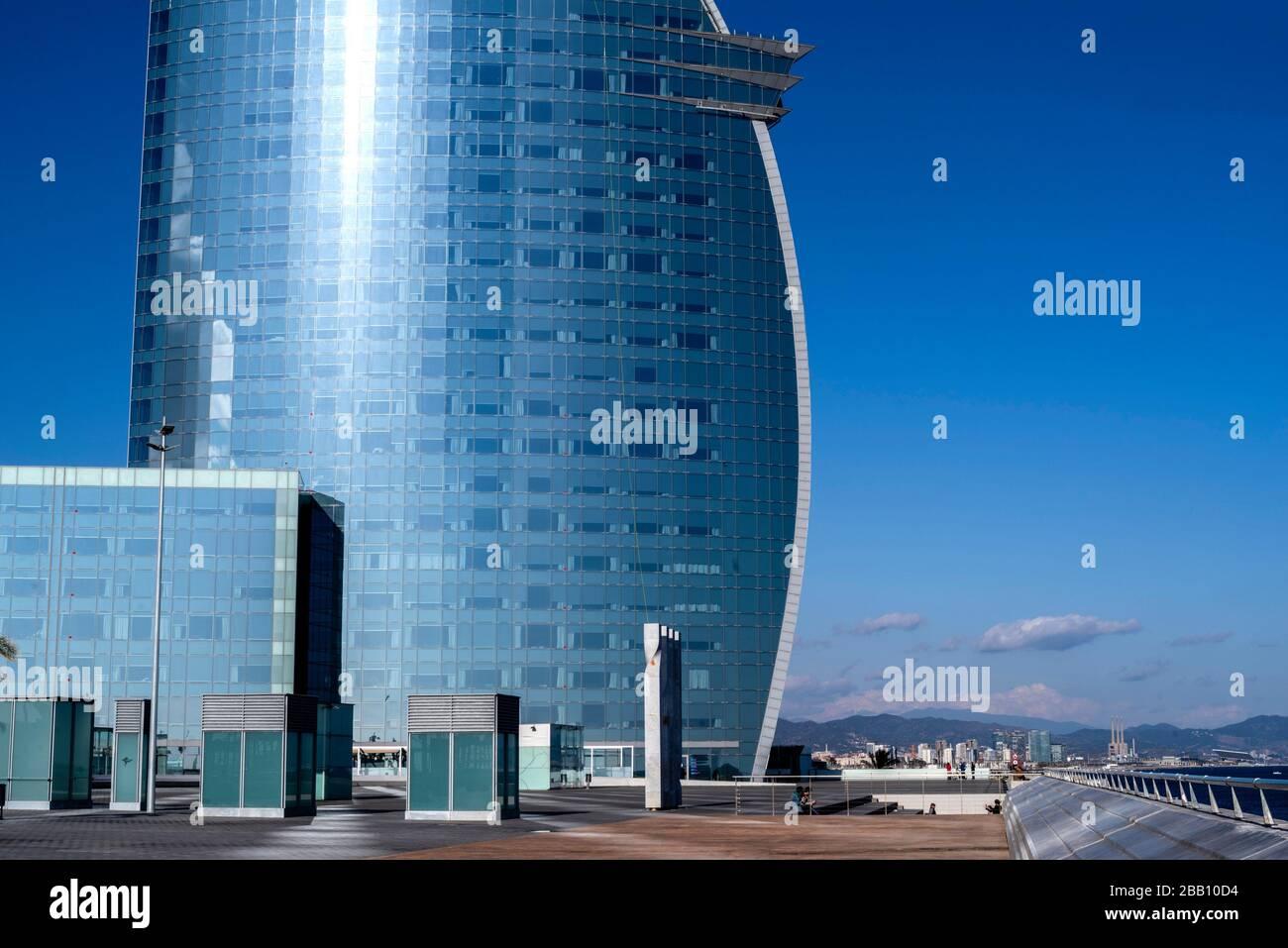 Hotel vela de Barcelona, Cataluña, España. Foto de stock