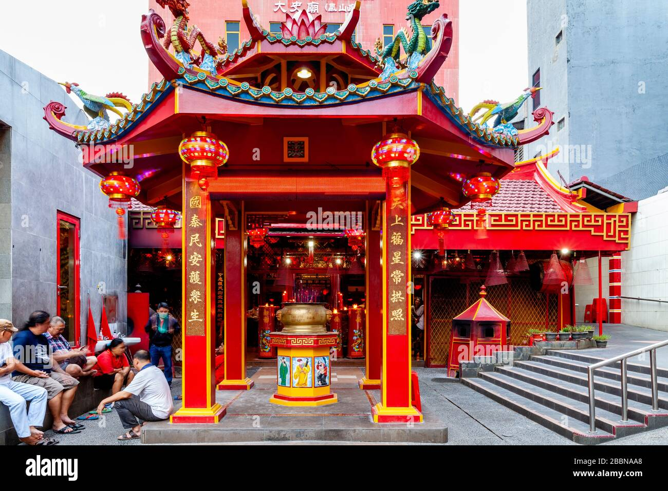 Templo de Toasebio, Chinatown, Yakarta, Indonesia. Foto de stock