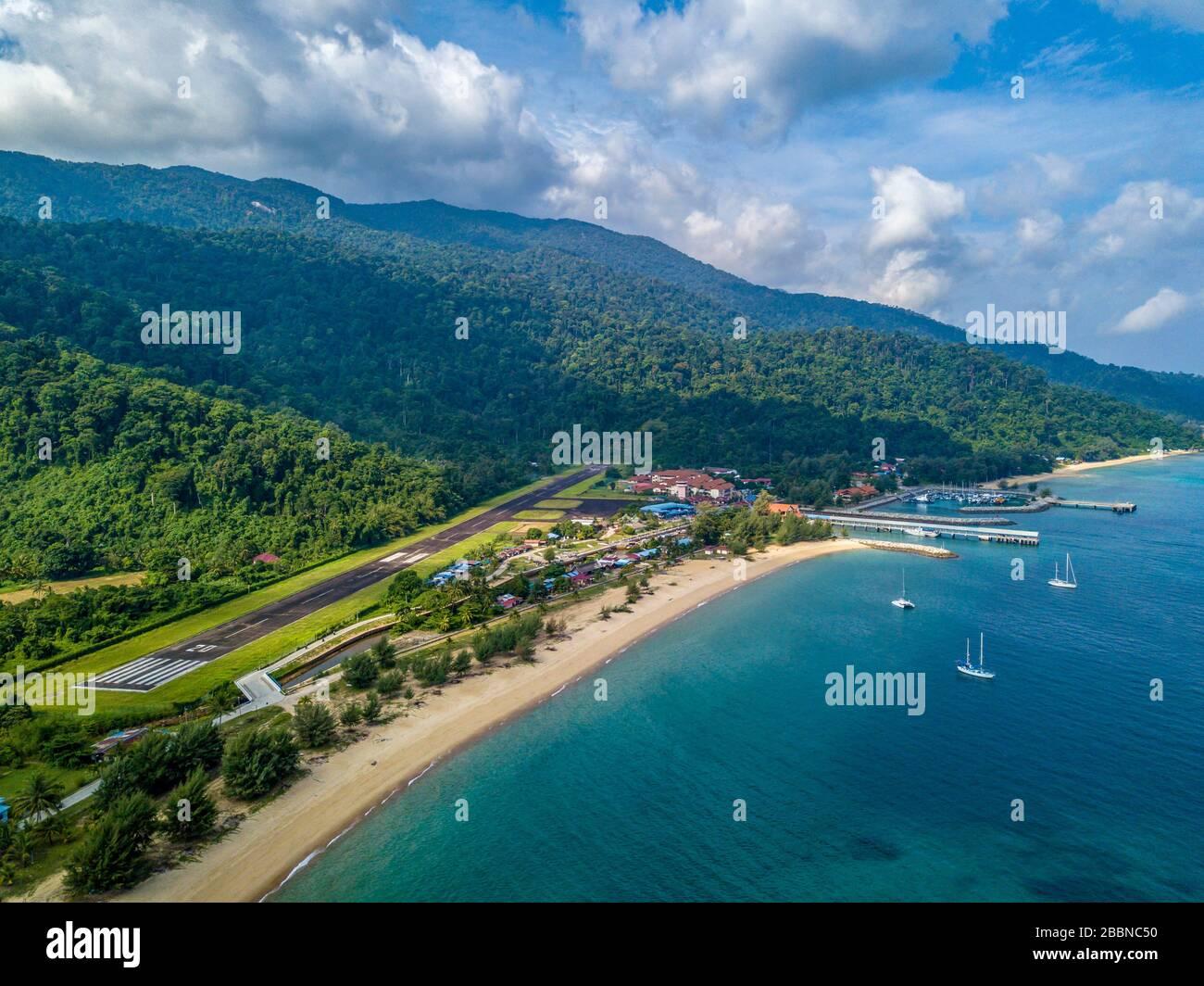 Pulau Tioman Drone vista Malasia Foto de stock