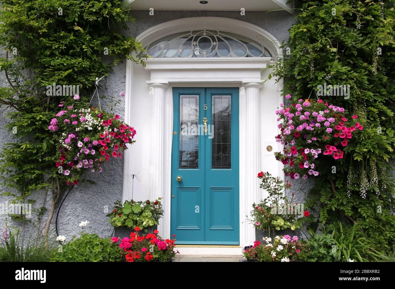 Propiedad suburbana en Sandycove que es la ubicación más cara de Dublín Foto de stock