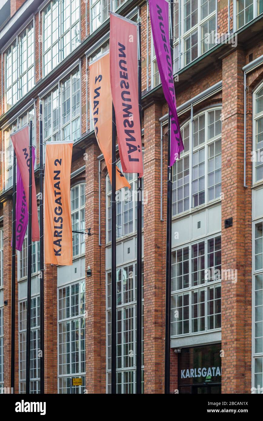 SUECIA, Vastmanland, Vasteras, Karlsgatan 2, exterior de la historia de la ciudad y museos de arte Foto de stock
