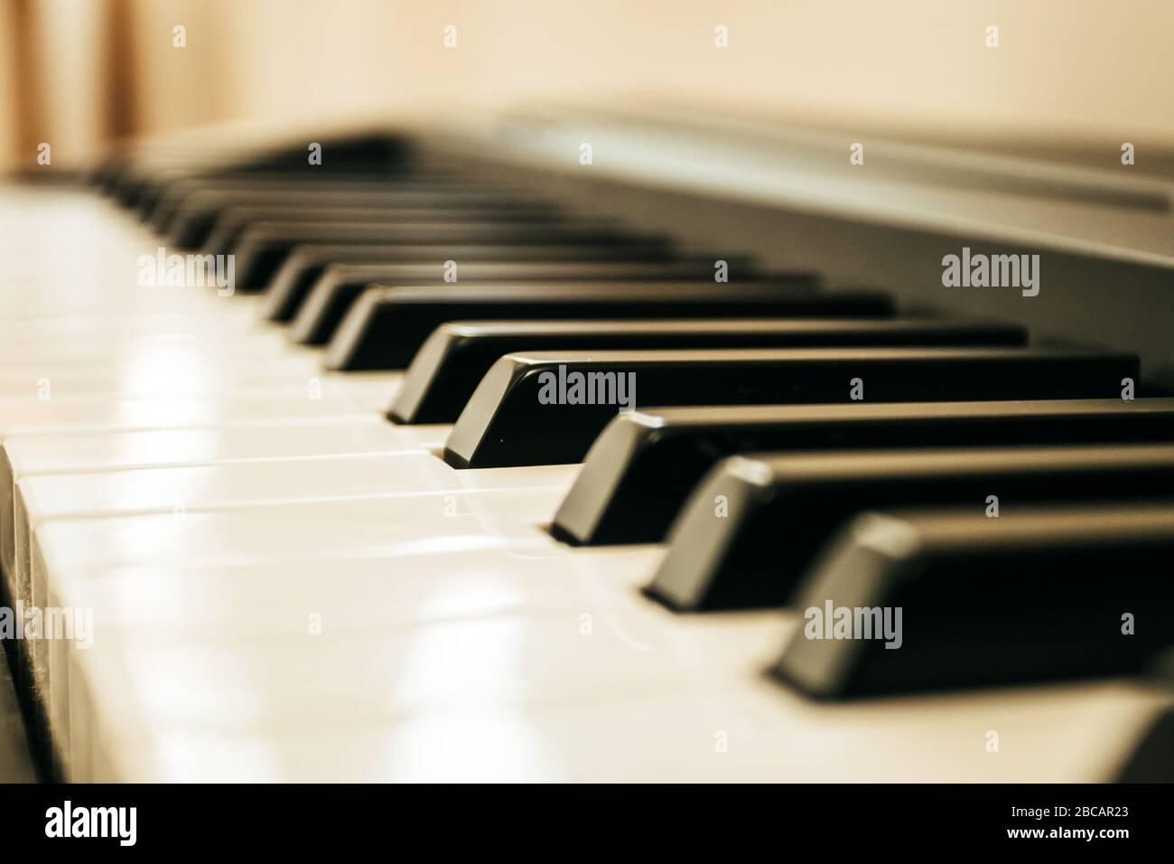 Teclado piano entradas musicales.teclado piano Foto de stock