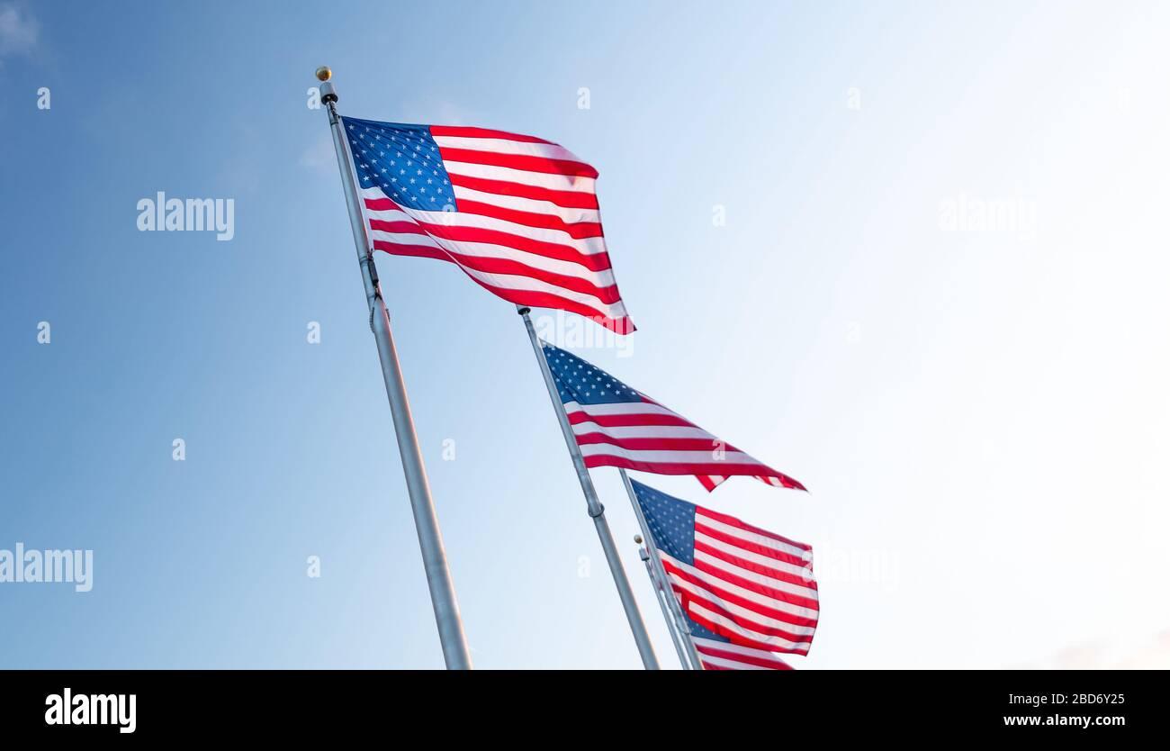 Bandera de estados Unidos de América, EE.UU Foto de stock