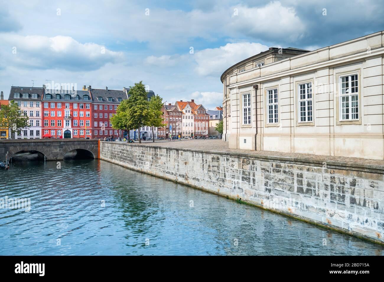 Hermosa ciudad de Copenhague en Dinamarca Foto de stock