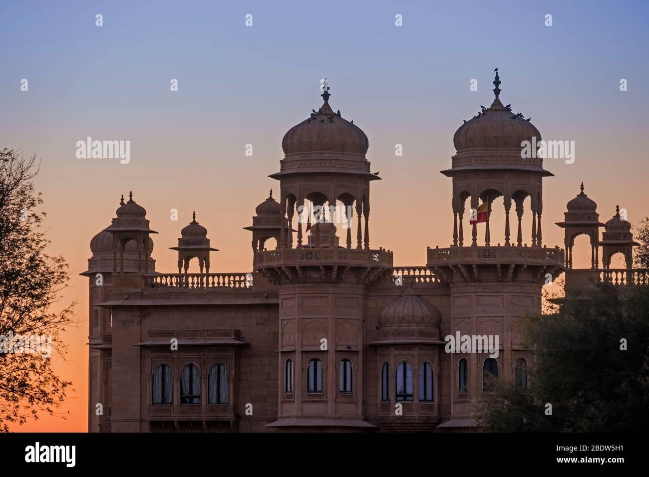 Jawahar Niwas Palacio Jaisalmer Rajasthan India Foto de stock