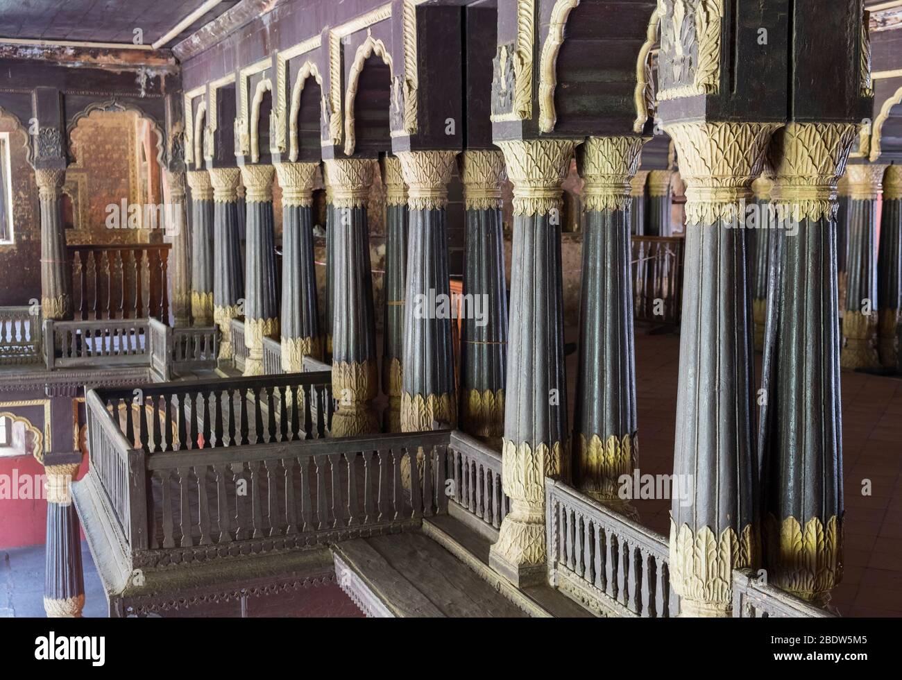 Palacio de Verano de Tipu Sultan Bangalore Karnataka India Foto de stock