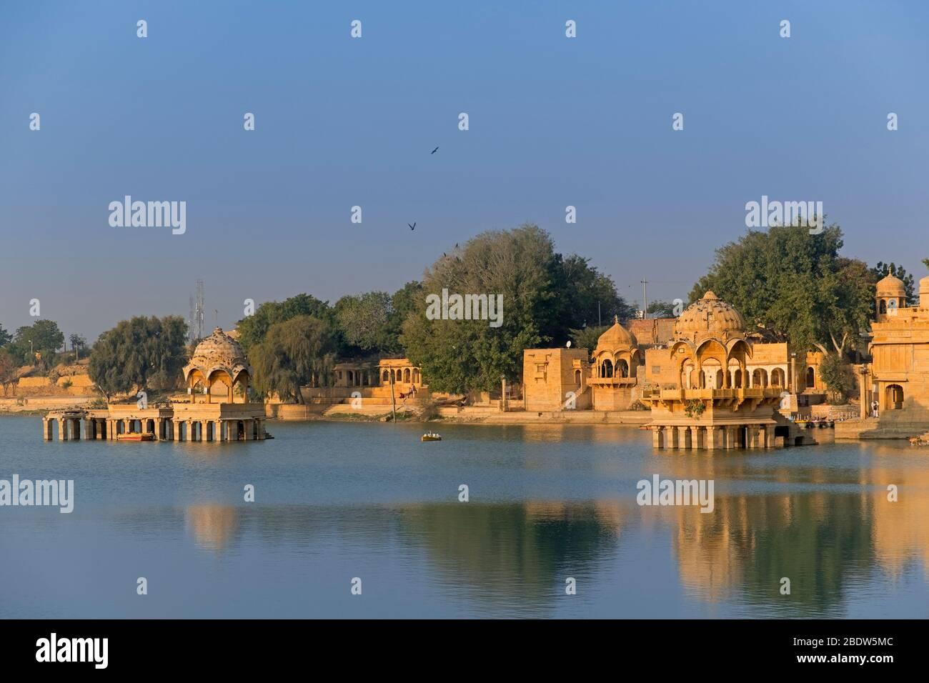 Gadisar Lago Jaisalmer Rajasthan India Foto de stock