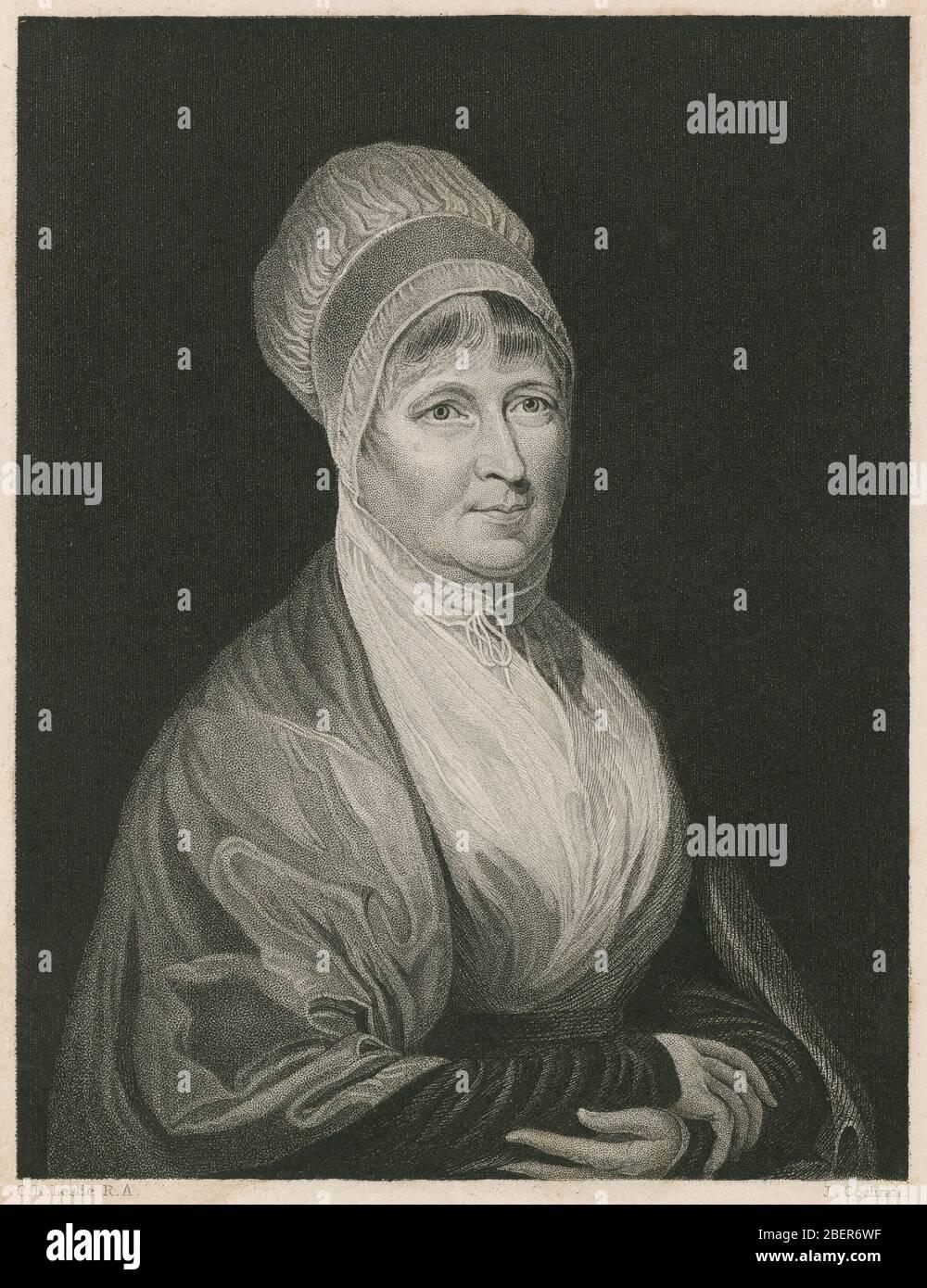 Grabado antiguo, Elizabeth Fry. Elizabeth Fry (1780-1845), a menudo conocida como Betsy Fry, fue reformadora de prisiones inglesa, reformadora social y, como cuáquera, filántropo cristiano. FUENTE: GRABADO ORIGINAL Foto de stock