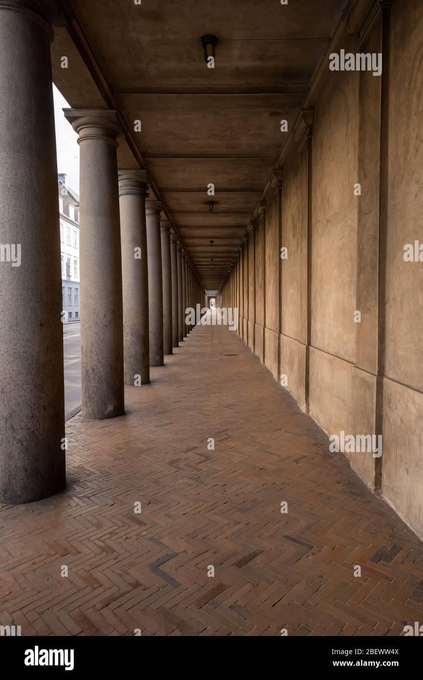Museo Nacional, copenhague, dinamarca, Kolonnade con 28 pilas Foto de stock