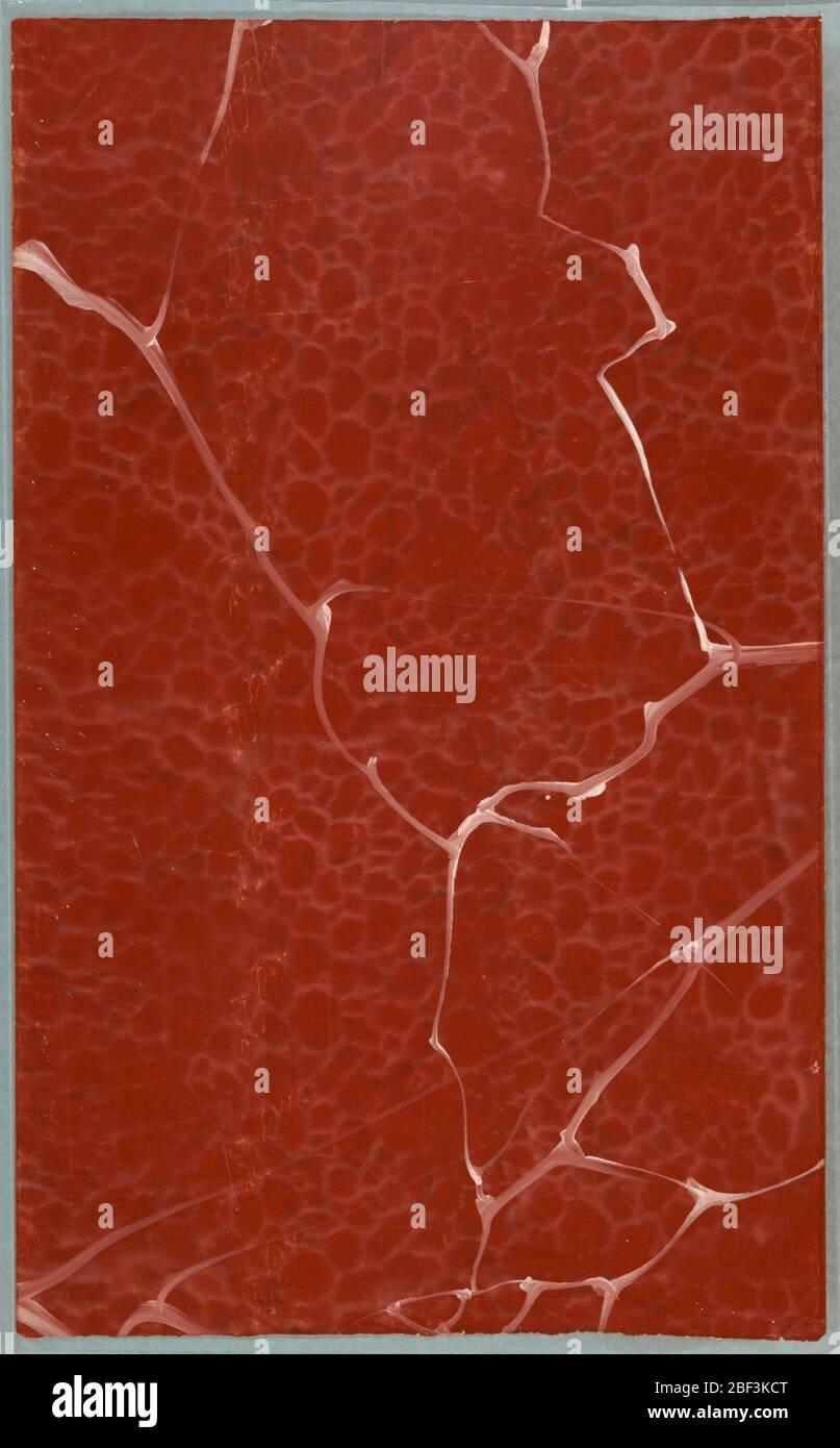 Lateral. Con velo blanco, motas grises y blancas, sobre suelo rojo-anaranjado. Foto de stock