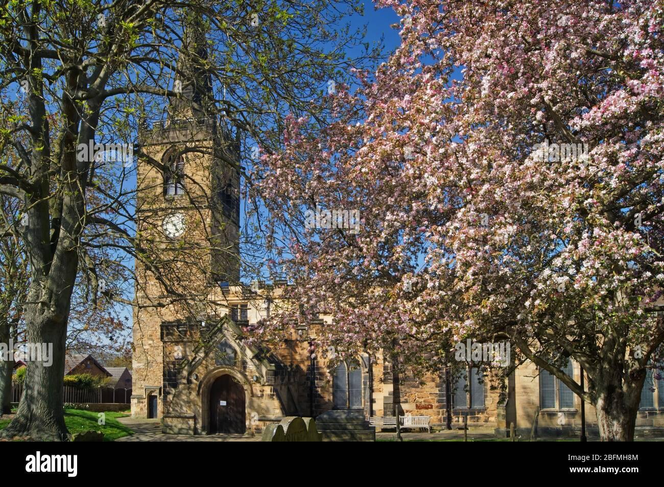 Reino Unido, South Yorkshire, Rotherham, Wath upon Dearne, Iglesia de todos los Santos Foto de stock