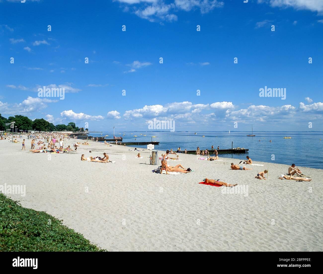 Bellevue Beach (Strandbag), Klampenbourg, Reino de Dinamarca Foto de stock