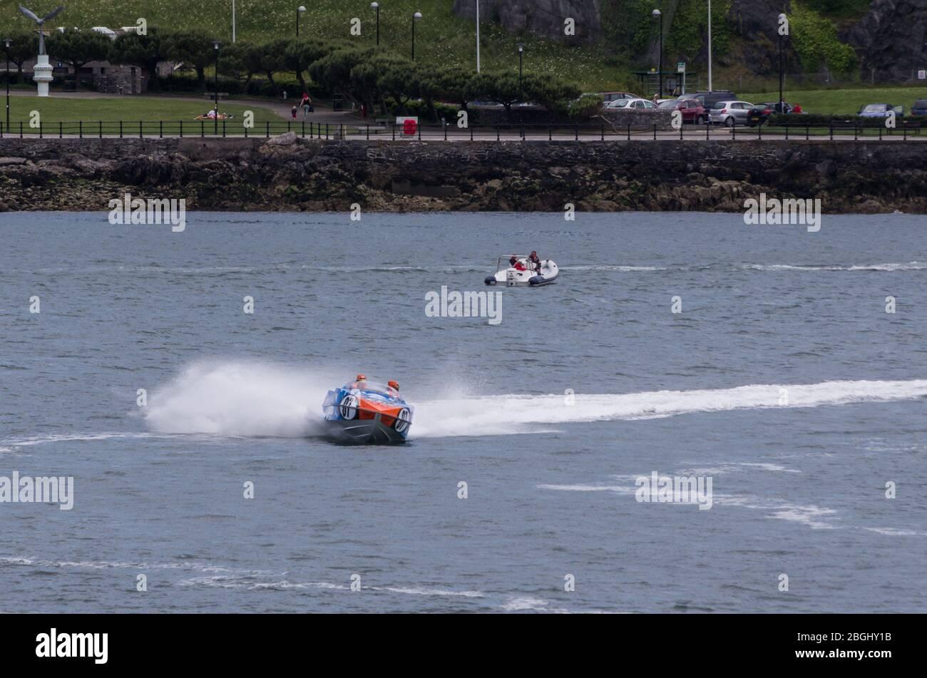 Barco de motor P1 Superstock racing, Plymouth 29 Junio 2013 Foto de stock