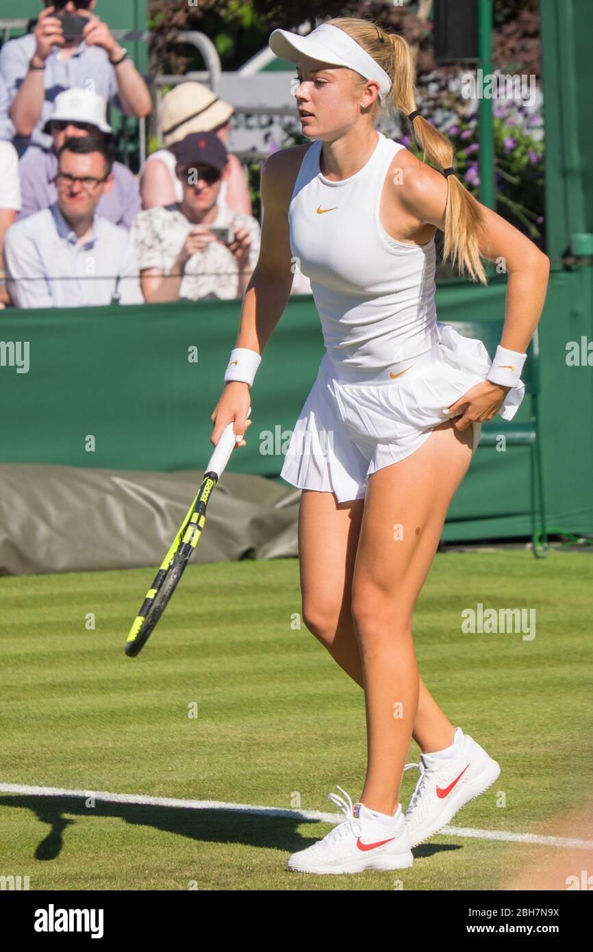 Katie Swan en Wimbledon 2018 Foto de stock