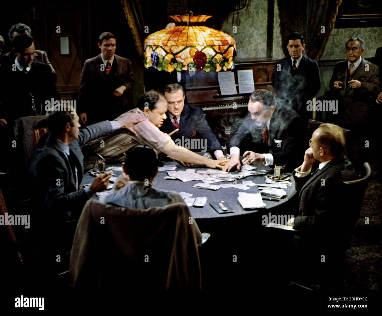 MCQUEEN,WESTON,MALDEN,ROBINSON, EL CHICO DE CINCINNATI, 1965 Foto de stock