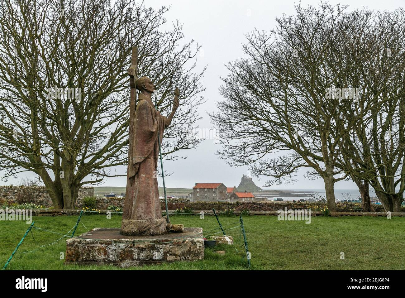 St Aidan of Lindisfarne Northumberland, Foto de stock