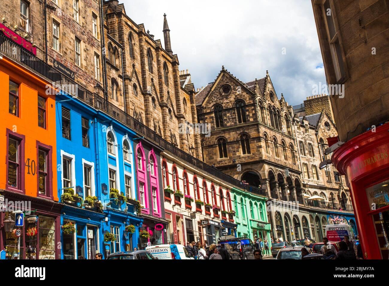 Victoria Street, Old Town, Edimburgo, Escocia, Reino Unido, Europa. Foto de stock