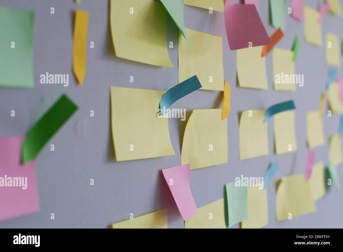 Comité Kanban y metodología ágil. Las empresas prefieren la metodología ágil, scrum y gestión de proyectos, especialmente durante el desarrollo de software Foto de stock